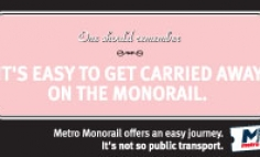 It's easy to get carried away on the Monorail Advertisement